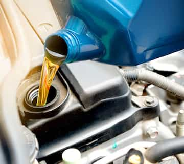 Synthetic oil change at DJs Garage